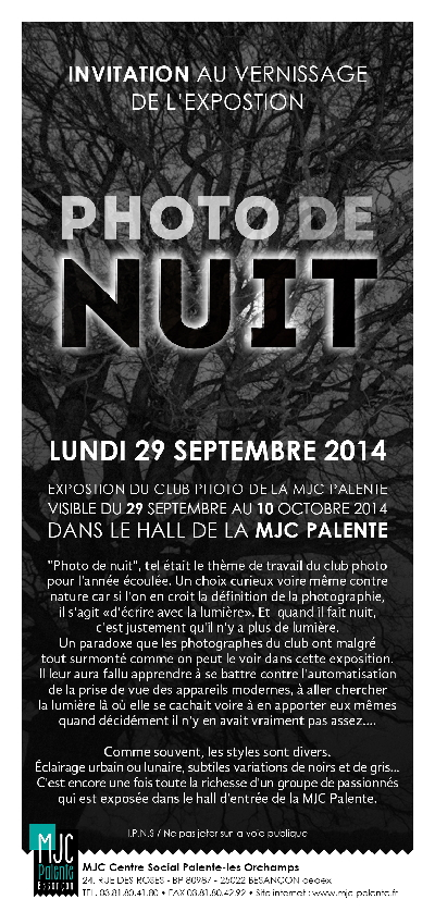 Invitation Photo de Nuit